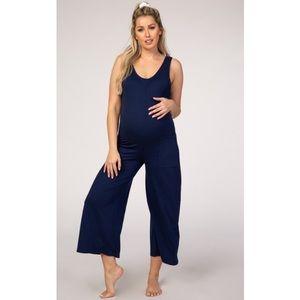 PinkBlush two pocket wide leg crop jumpsuit nwot